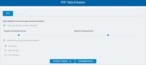 PDF Table Extractor